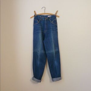 french 1970s jeans cotton denim high-waisted 70s